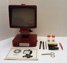 Tasco Big Screen Micro Microscope 30X 40X 60X 80X Vintage Tested