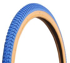"Ammaco 26"" x 2.125"" MTB Wheelie Bike Snakebelly Gumwall BMX Cruiser Retro Blue"