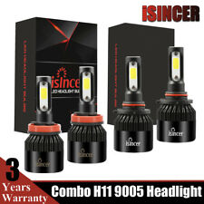4x 9005 + H11 LED Combo Headlight Kit 3000W 390000LM Hi-Low Beam Bulbs G5 USA