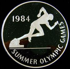 1984 Jamaica $25 Proof Olympic * Huge Silver 4.37 Oz * Very Low Mintage