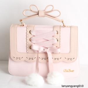 Lolita Girl Kawaii Bandage Bowknot Japan JK Shoulder Bag Handbag Knapsack PU