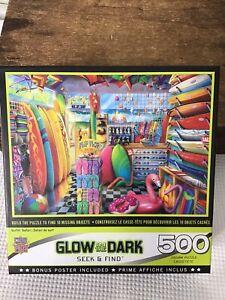 Surfin Safari Glow In The Dark Seek & Find 500 Piece Puzzle Surf Master Pieces