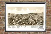 Vintage Silver Creek, NY Map 1892 - Historic New York Art - Victorian Industrial
