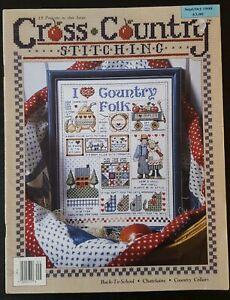 Cross Country Stitching Sept Oct 1990 Cross Stitching Magazine from USA