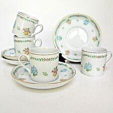 Set of 4 Espresso Demitasse Cups Floral Gold Trim