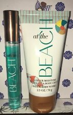 Bath & Body Works AT THE BEACH Perfume Spray & At The Beach 24 Hour Body Cream