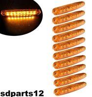 10x 24V Luci Ingombro Laterali 9 Led Arancione Posteriori per Camion Trattori