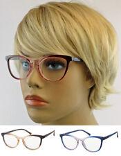 Schmale Retro Lesebrille mit Farbverlauf Damen Cat Eye Brille Vintage Look LC69