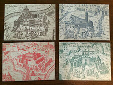 Vatican City 1983 Mint Set of 4 Postcards View of Vatican City by Massaio