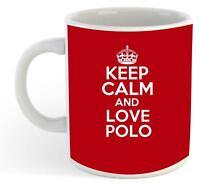 Keep Calm And Love Polo  Mug - Red