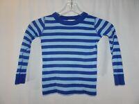 Hanna Andersson Sz 100 4 Blue Stripe Organic Cotton Long John Pajama Shirt