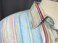 Tommy Bahama Linen Shirt Mens Medium Multicolored Striped