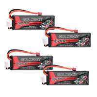 4Packs 5200mAh 2S 7.4V 50C LiPo Battery Hardcase Deans Plug  for RC Car Truck