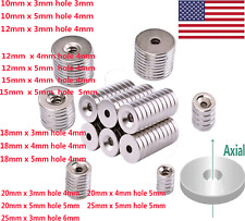 Diy Rare Earth Industrial Strong Ring Neo Neodymium Disc Round Magnet With Hole