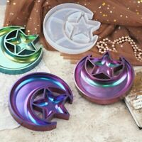 DIY Handmade Crystal Epoxy Star Moon Dish Plates Mould Storage Box Silicone Mold