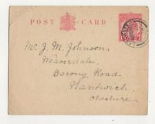 Mr JM Johnson Weaverdale Barony Road Nantwich 1919 439b