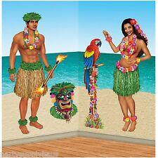 Tropical Luau HAWAIIAN HULA GIRL and GUY PROPS Party Decorations JUNGLE ISLAND