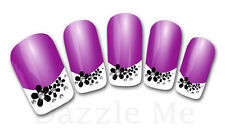 3D Nail Art Decals Transfer Stickers French Tip Design Flowers (3D833)