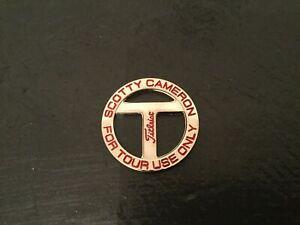 SCOTTY CAMERON Golf ball marker Titleist T Tour RED Logo NEW Mint