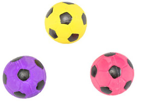 Ethical Pet Spot Soccer Ball 2in | Colorful Latex Squeaker Dog Toy