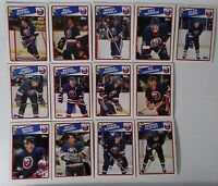 1988-89 Topps New York Islanders Team Set of 13 Hockey Cards