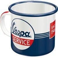 Vespa Roller Emaille Kaffeetasse Souvenir Tasse 360 ml. coffee mug