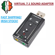 External Virtual 7.1 Channel Sound Audio Adapter 2.0 USB Headset Headphone Mic