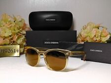 DOLCE & GABBANA DG 4254 Transparent Yellow Frame w/ Brown Mirror Lens Sunglasses