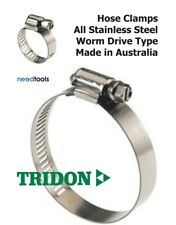 Pkts of 10 HOSE CLAMPS Full Stainless Steel Hose Clamp Tridon Made in Australia