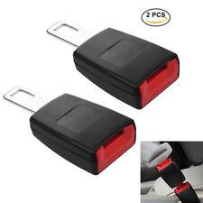 2Pcs Car SUV Seat Belt Socket Extender Metal Seat Belt Tongue Buckles Clip Rigid