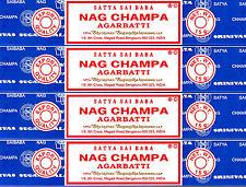 60 Grams Nag Champa 4 X 15 Grams Pack Original Incense Sticks SATYA SAI BABA