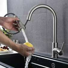 Brand New Kitchen Sink Faucet Pull Out Sprayer Swivel Spout Mixer Tap