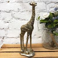 Vintage Gold Standing Giraffe Safari Sculpture Statue Figure Decorative Ornament