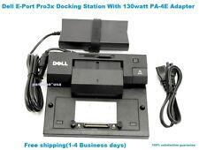 Dell Latitude E-Port Pro3x Docking Station With Genuine PA 4E Adapter.