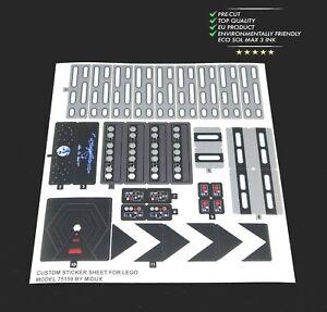Custom Precut Aufkleber/Sticker passend für LEGO 75159 Star Wars Death Star -UCS