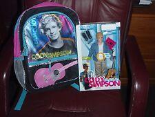 "Cody Simpson 16"" Children's School Backpack Book Bag & CODY SINGING DOLL W/ACC"