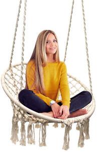 Sorbus Hammock Chair Macrame Swing, 265lbs Capacity Perfect for Indoor/Outdoor