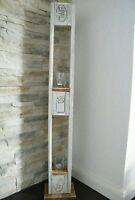 Windlicht Shabby Chic Vintage Holz Landhaus Deko Säule