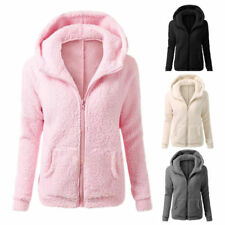 New Womens Ladies  Hoodie Fleece Sweatshirt Hooded Coat Hoodys Zip Jacket Parka