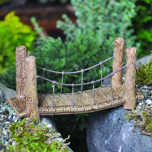 Fairy Garden Suspension Bridge Miniature Weatherproof Fairy Garden Accessory