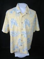 TRADER BAY Men Hawaiian ALOHA shirt pit to pit 27 tropical floral luau camp tiki