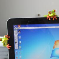 2x Resin Novelty 3D Craft Frog Decoration Office Desk Computer Decor Crafts