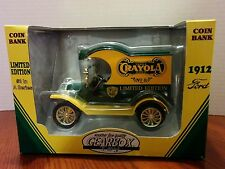 GEAR BOX CRAYOLA CRAYON DIE CAST 1912 FORD DELIVERY NIB LIMITED EDITION BANK
