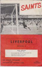 Programme / Programma Southampton FC v Liverpool FC 17-09-1966 incl. F.L.R.