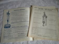 Vintage catalogue Block and tackle pulleys lifting equipment Moufles chevenier