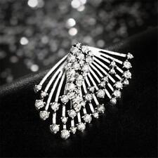 Fashion Crystal Rhinestone Cuff Earrings Ear Stud Clip Boho Jewelry UK