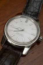King Seiko White Dial 44-9990 with brown leather strap 25 Jewels made in Japan