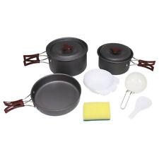 Camping-Geschirr Koch-Set Aluminium stapelbar Topf Pfanne Töpfe Outdoor Topfset