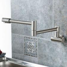 Wall Mount Single Cold Handle Pot Filler Kitchen Faucet Swing Swivel Spout Brass