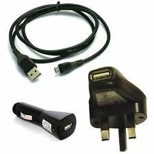 Complete Mains Adaptor /In Car Charger/Mini USB Data Sync Cable For Garmin Nuvi